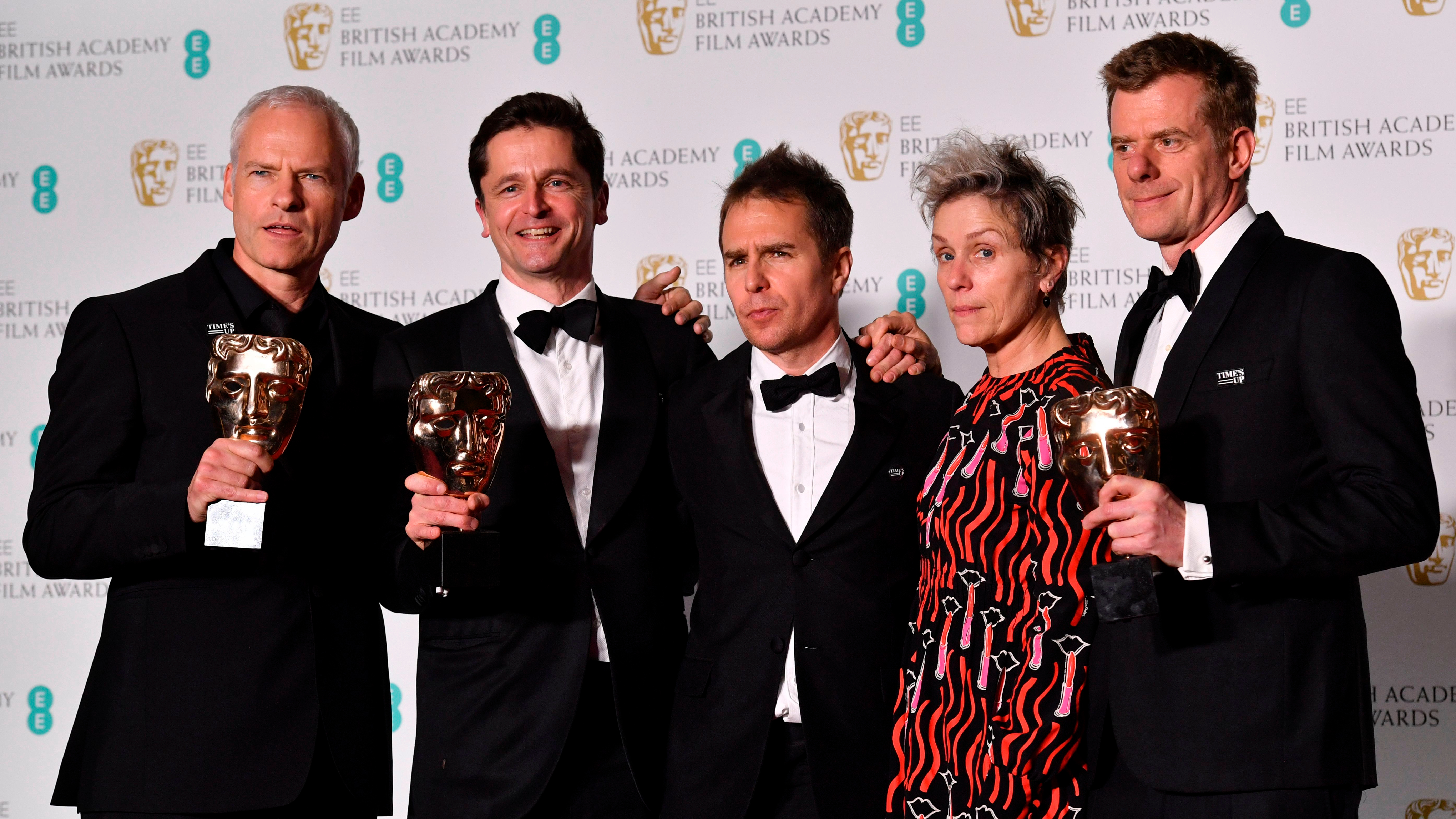 Baftas 2018: Three Billboards wins Best Film, Guillermo del Toro is Best Director